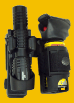 Double holders for tactical flashlight and pepper spray (holder SH)