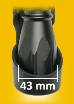 Universal Holder LHU for Flashlight with Head Diameter 43 mm
