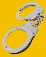Metal police handcuffs
